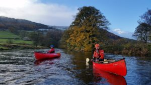 Trainee Instructors Canoeing on the Wharfe